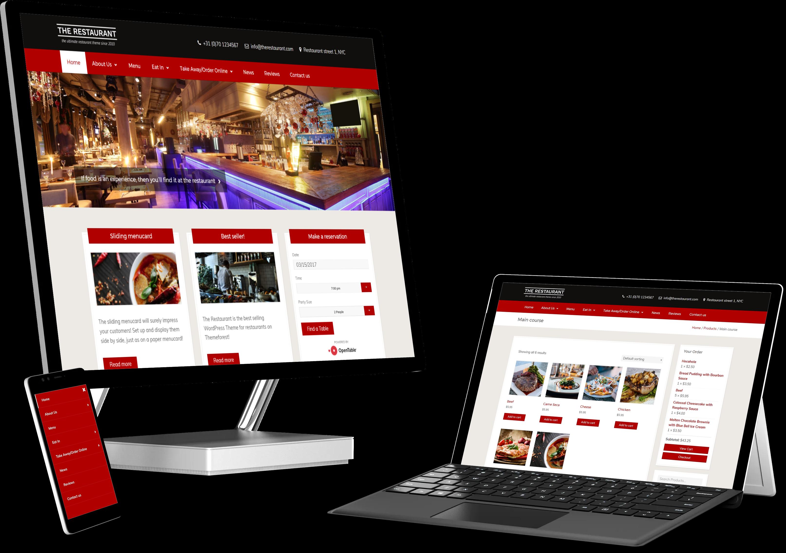 Easy Créa - Création de site internet pour restaurant